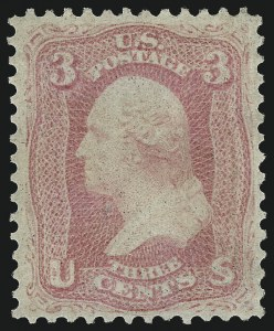 Sale Number 958, Lot Number 558, 1861-66 Issue3c Pink (64), 3c Pink (64)