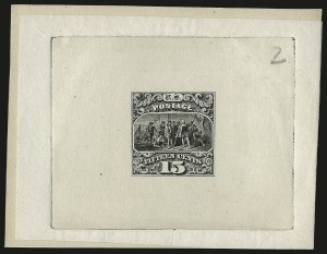Sale Number 958, Lot Number 584, 1869 Pictorial Issue15c Black, Large Die Trial Color Proof on India (118TC1), 15c Black, Large Die Trial Color Proof on India (118TC1)