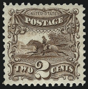Sale Number 958, Lot Number 604, 1875 Re-Issue of 1869 Pictorial Issue2c Brown, Re-Issue (124), 2c Brown, Re-Issue (124)