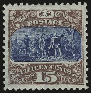 Sale Number 958, Lot Number 607, 1875 Re-Issue of 1869 Pictorial Issue15c Brown & Blue, Re-Issue (129), 15c Brown & Blue, Re-Issue (129)