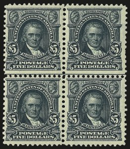 Sale Number 958, Lot Number 646, 1902-08 Issues$5.00 Dark Green (313), $5.00 Dark Green (313)