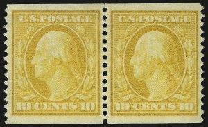 Sale Number 958, Lot Number 659, Washington-Franklin and Commemorative Issues10c Yellow, Coil (356), 10c Yellow, Coil (356)
