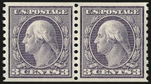 Sale Number 958, Lot Number 681, Washington-Franklin Issues (continued)3c Violet, Coil (456), 3c Violet, Coil (456)