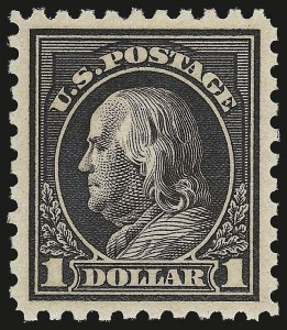 Sale Number 958, Lot Number 682, Washington-Franklin Issues (continued)$1.00 Violet Black (460), $1.00 Violet Black (460)