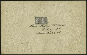 Sale Number 958, Lot Number 730, Carriers and LocalsKingman's City Post, Charleston S.C., 2c Black on Bluish (4LB1), Kingman's City Post, Charleston S.C., 2c Black on Bluish (4LB1)
