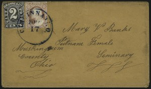Sale Number 958, Lot Number 744, Carriers and LocalsBrowne & Co.'s City Post Office, Cincinnati O., 2c Black (29L2), Browne & Co.'s City Post Office, Cincinnati O., 2c Black (29L2)