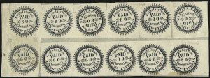 Sale Number 958, Lot Number 750, Carriers and LocalsEagle City Post, Philadelphia Pa., (2c) Black, Tete-Beche Pair (61L2a), Eagle City Post, Philadelphia Pa., (2c) Black, Tete-Beche Pair (61L2a)