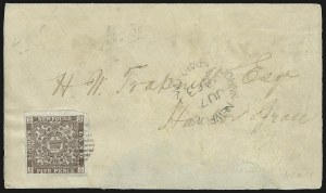 Sale Number 958, Lot Number 821, British North AmericaNEWFOUNDLAND, 1861, 5p Chocolate Brown (15Ac; SG 16), NEWFOUNDLAND, 1861, 5p Chocolate Brown (15Ac; SG 16)