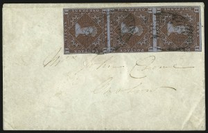 Sale Number 958, Lot Number 822, British North AmericaNOVA SCOTIA, 1853, 1p Red Brown (1; SG 1), NOVA SCOTIA, 1853, 1p Red Brown (1; SG 1)