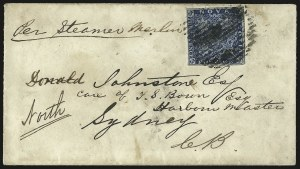 Sale Number 958, Lot Number 824, British North AmericaNOVA SCOTIA, 1857, 3p Bright Blue, Bisect (2a; SG 3a), NOVA SCOTIA, 1857, 3p Bright Blue, Bisect (2a; SG 3a)