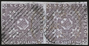 Sale Number 958, Lot Number 826, British North AmericaNOVA SCOTIA, 1851, 1sh Cold Violet (7; SG 7), NOVA SCOTIA, 1851, 1sh Cold Violet (7; SG 7)