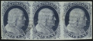 Sale Number 959, Lot Number 2073, 1851-56 Issue (Scott 5A-17)1c Blue, Ty. III, Position 99R2 (8), 1c Blue, Ty. III, Position 99R2 (8)