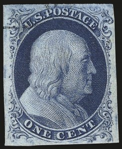 Sale Number 959, Lot Number 2078, 1851-56 Issue (Scott 5A-17)1c Blue, Ty. IIIa (8A), 1c Blue, Ty. IIIa (8A)