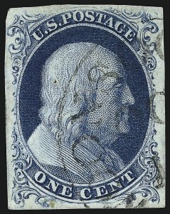 Sale Number 959, Lot Number 2079, 1851-56 Issue (Scott 5A-17)1c Blue, Ty. IIIa (8A), 1c Blue, Ty. IIIa (8A)