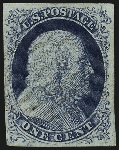 Sale Number 959, Lot Number 2080, 1851-56 Issue (Scott 5A-17)1c Blue, Ty. IIIa (8A), 1c Blue, Ty. IIIa (8A)