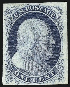 Sale Number 959, Lot Number 2082, 1851-56 Issue (Scott 5A-17)1c Blue, Ty. IV (9), 1c Blue, Ty. IV (9)
