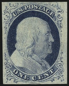Sale Number 959, Lot Number 2083, 1851-56 Issue (Scott 5A-17)1c Blue, Ty. IV (9), 1c Blue, Ty. IV (9)
