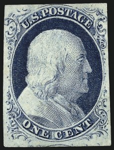 Sale Number 959, Lot Number 2084, 1851-56 Issue (Scott 5A-17)1c Blue, Ty. IV (9), 1c Blue, Ty. IV (9)