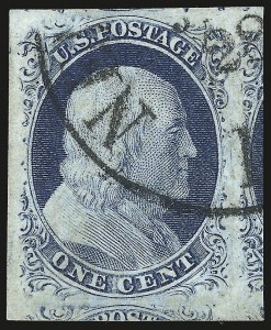 Sale Number 959, Lot Number 2085, 1851-56 Issue (Scott 5A-17)1c Blue, Ty. IV (9), 1c Blue, Ty. IV (9)