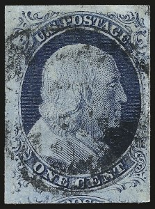 Sale Number 959, Lot Number 2088, 1851-56 Issue (Scott 5A-17)1c Blue, Ty. IV (9), 1c Blue, Ty. IV (9)