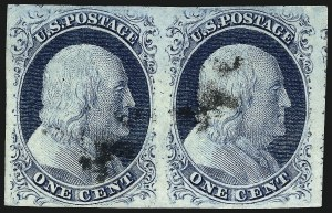 Sale Number 959, Lot Number 2091, 1851-56 Issue (Scott 5A-17)1c Blue, Ty. IV (9), 1c Blue, Ty. IV (9)