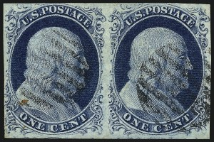 Sale Number 959, Lot Number 2092, 1851-56 Issue (Scott 5A-17)1c Blue, Ty. IV (9), 1c Blue, Ty. IV (9)