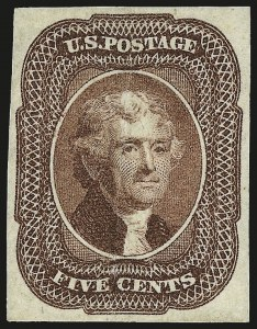 Sale Number 959, Lot Number 2109, 1851-56 Issue (Scott 5A-17)5c Red Brown (12), 5c Red Brown (12)