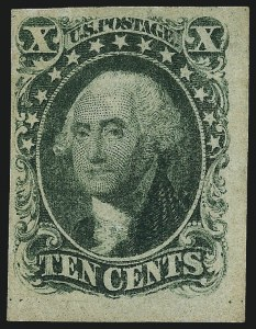 Sale Number 959, Lot Number 2116, 1851-56 Issue (Scott 5A-17)10c Green, Ty. I (13), 10c Green, Ty. I (13)