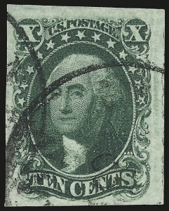 Sale Number 959, Lot Number 2117, 1851-56 Issue (Scott 5A-17)10c Green, Ty. I (13), 10c Green, Ty. I (13)