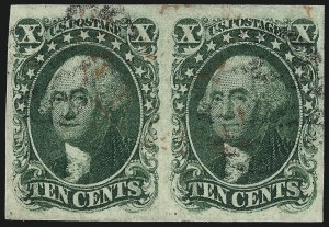 Sale Number 959, Lot Number 2120, 1851-56 Issue (Scott 5A-17)10c Green, Ty. I (13), 10c Green, Ty. I (13)