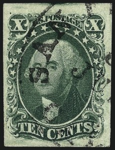 Sale Number 959, Lot Number 2121, 1851-56 Issue (Scott 5A-17)10c Green, Ty. II (14), 10c Green, Ty. II (14)