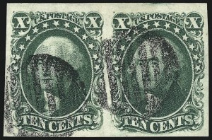 Sale Number 959, Lot Number 2123, 1851-56 Issue (Scott 5A-17)10c Green, Ty. II (14), 10c Green, Ty. II (14)