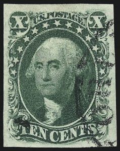 Sale Number 959, Lot Number 2125, 1851-56 Issue (Scott 5A-17)10c Green, Ty. III (15), 10c Green, Ty. III (15)