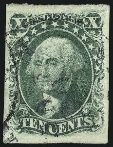 Sale Number 959, Lot Number 2127, 1851-56 Issue (Scott 5A-17)10c Green, Ty. IV (16), 10c Green, Ty. IV (16)