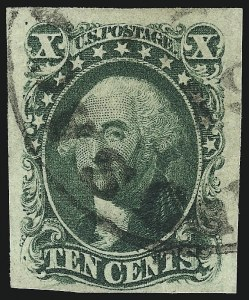 Sale Number 959, Lot Number 2129, 1851-56 Issue (Scott 5A-17)10c Green, Ty. IV (16), 10c Green, Ty. IV (16)