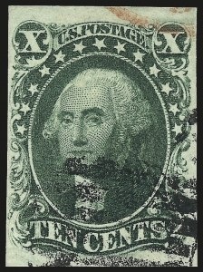 Sale Number 959, Lot Number 2130, 1851-56 Issue (Scott 5A-17)10c Green, Ty. IV (16), 10c Green, Ty. IV (16)