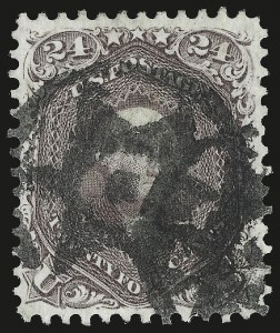 Sale Number 959, Lot Number 2232, 1861-66 Issue (Scott 56-78)24c Red Lilac (70), 24c Red Lilac (70)