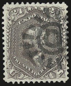 Sale Number 959, Lot Number 2234, 1861-66 Issue (Scott 56-78)24c Brown Lilac (70a), 24c Brown Lilac (70a)