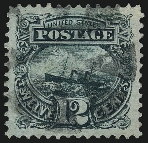 Sale Number 959, Lot Number 2298, 1869 Pictorial Issue (Scott 112-122)12c Green (117), 12c Green (117)