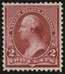 "Sale Number 959, Lot Number 2470, 1890-93 Issue (Scott 219-229)2c Carmine, Cap on Both ""2""'s (220c), 2c Carmine, Cap on Both ""2""'s (220c)"