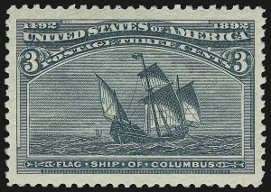 Sale Number 959, Lot Number 2495, 1893 Columbian Issue (Scott 230-245)3c Columbian (232), 3c Columbian (232)