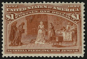 Sale Number 959, Lot Number 2531, 1893 Columbian Issue (Scott 230-245)$1.00 Columbian (241), $1.00 Columbian (241)
