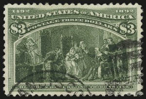 Sale Number 959, Lot Number 2543, 1893 Columbian Issue (Scott 230-245)$3.00 Columbian (243), $3.00 Columbian (243)