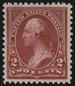 Sale Number 959, Lot Number 2555, 1894 Unwatermarked Bureau Issue (Scott 246-263)2c Carmine Lake, Ty. I (249), 2c Carmine Lake, Ty. I (249)