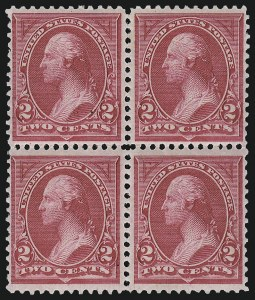Sale Number 959, Lot Number 2556, 1894 Unwatermarked Bureau Issue (Scott 246-263)2c Carmine Lake, Ty. I (249), 2c Carmine Lake, Ty. I (249)