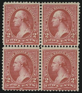 Sale Number 959, Lot Number 2559, 1894 Unwatermarked Bureau Issue (Scott 246-263)2c Carmine, Ty. III (252), 2c Carmine, Ty. III (252)