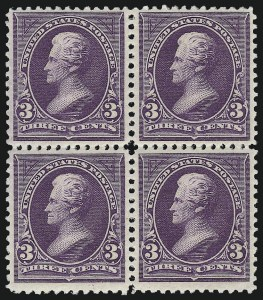 Sale Number 959, Lot Number 2560, 1894 Unwatermarked Bureau Issue (Scott 246-263)3c Purple (253), 3c Purple (253)