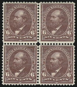 Sale Number 959, Lot Number 2565, 1894 Unwatermarked Bureau Issue (Scott 246-263)6c Dull Brown (256), 6c Dull Brown (256)