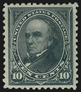 Sale Number 959, Lot Number 2568, 1894 Unwatermarked Bureau Issue (Scott 246-263)10c Dark Green (258), 10c Dark Green (258)