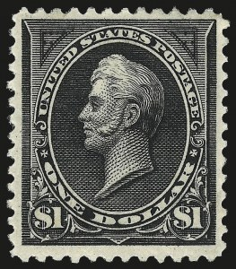 Sale Number 959, Lot Number 2571, 1894 Unwatermarked Bureau Issue (Scott 246-263)$1.00 Black (261), $1.00 Black (261)